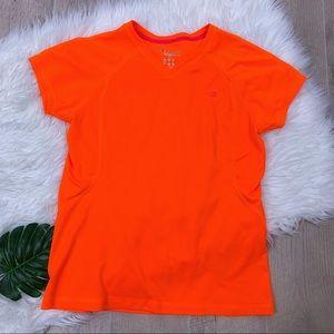 {5/$25🛍 Champion} Neon orange Dry-fit Top *2216